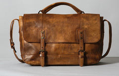 Handmade Leather Mens Cool Vintage Shoulder Bag Messenger Bag Bike Bag Cycling Bag for men
