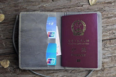 Handmade Leather Mens Cool Short Wallet Passport Card Holder Small Card Slim Wallets for Men