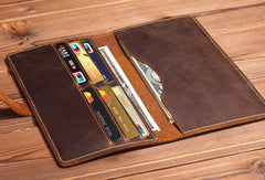 Cool Mens Leather Long Wallet Leather Wallet Bifold Long Wallet For Men
