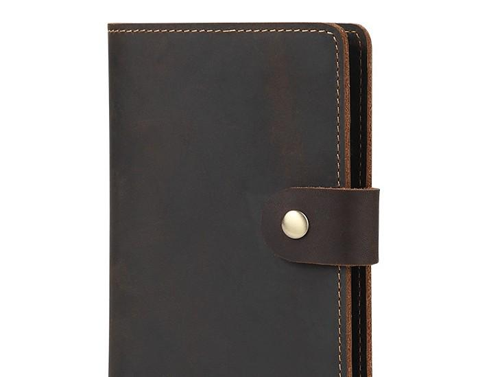 Cool Leather Mens Small Passport Wallet Slim Travel Wallets for Men