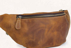 Cool Mens Leather Belt Bag Fanny Pack Waist Bag For Men