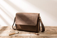 Cool Brown Vintage Leather Mens Messengers Bag Shoulder Bag for Men