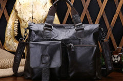 Leather Mens Black Briefcase Business Briefcase Brown Professional Briefcase For Men