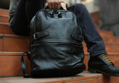 Mens Leather Backpack Cool Travel Backpacks Laptop Backpack for men