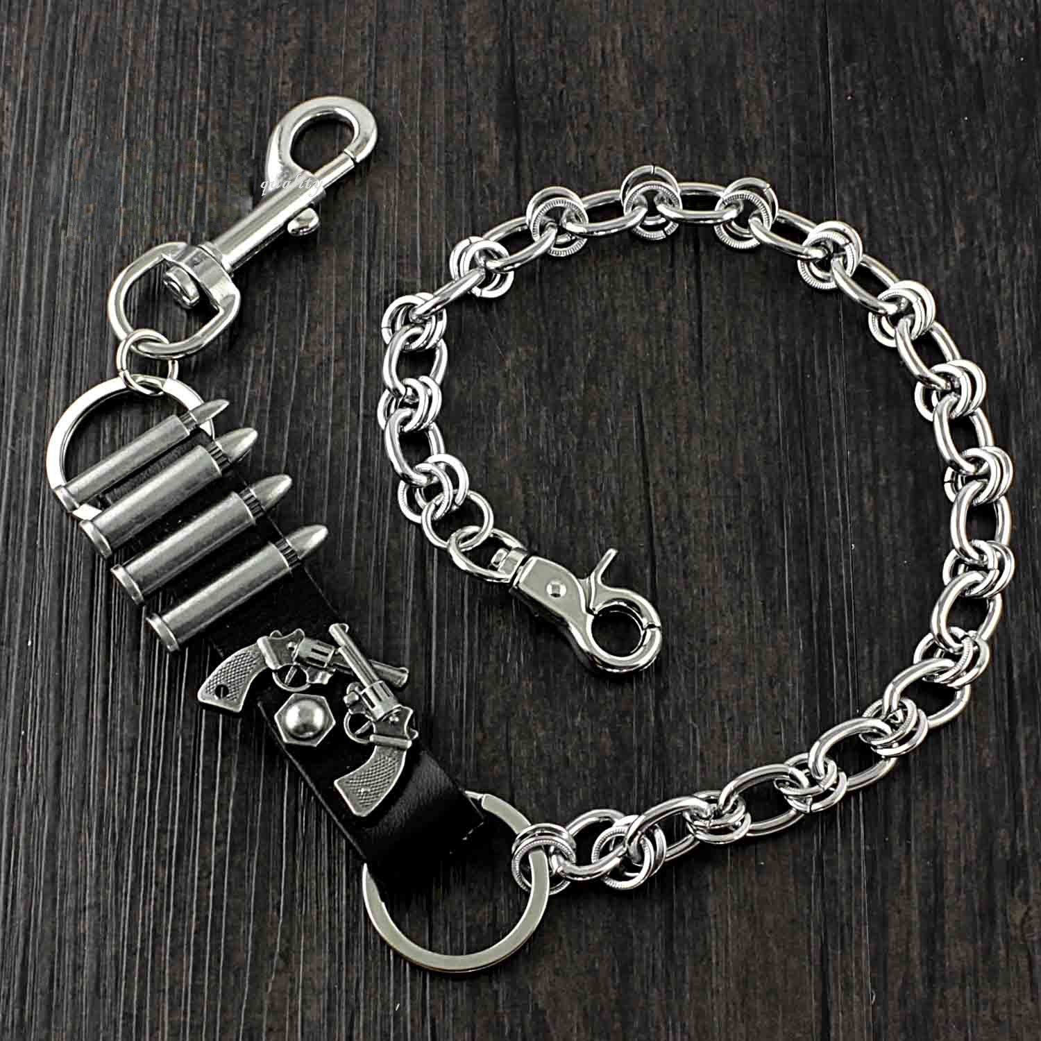 Solid Stainless Steel Revolver Wallet Chain Cool Punk Rock Biker Trucker Wallet Chain Trucker Wallet Chain for Men
