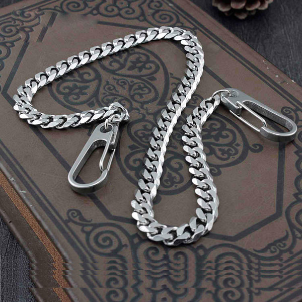 Solid Stainless Steel Wallet Chain Cool Punk Rock Biker Trucker Wallet Chain Trucker Wallet Chain for Men