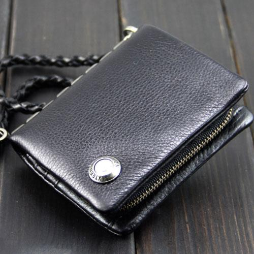 Handmade Leather Mens Chain Biker Wallet Cool Leather Wallet Bifold Short Wallets