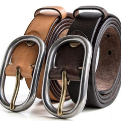 Handmade Genuine Custom Leather Mens Leather Men Coffee Beige Belt for Men