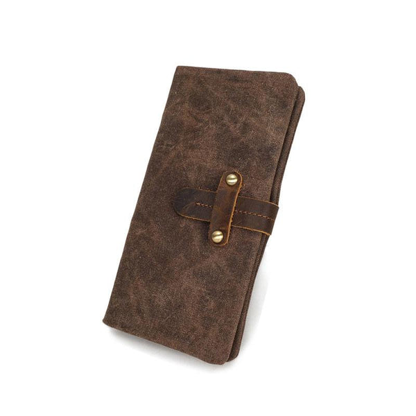 Mens Canvas Long Wallets for men Bifold Cool Men Long Wallet