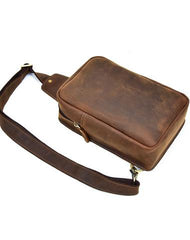 COOL LEATHER MENS SLING BAG CROSSBODY Backpack CHEST BAG FOR MEN