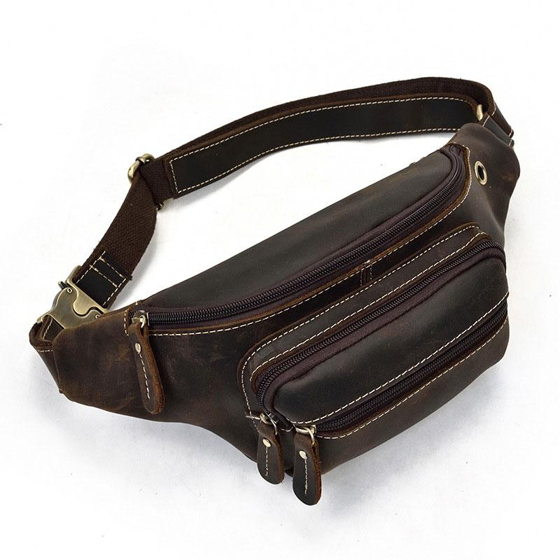 COOL LEATHER MENS FANNY PACK FOR MEN