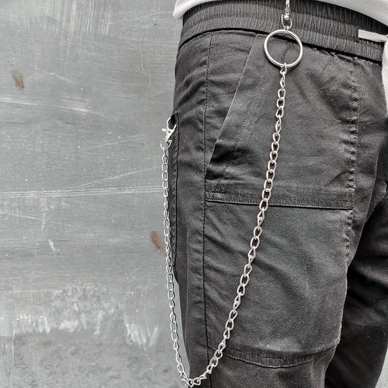 Badass Hip Hop Mens Stainless Steel Long Pants Chain Jean Wallet Chain For Men