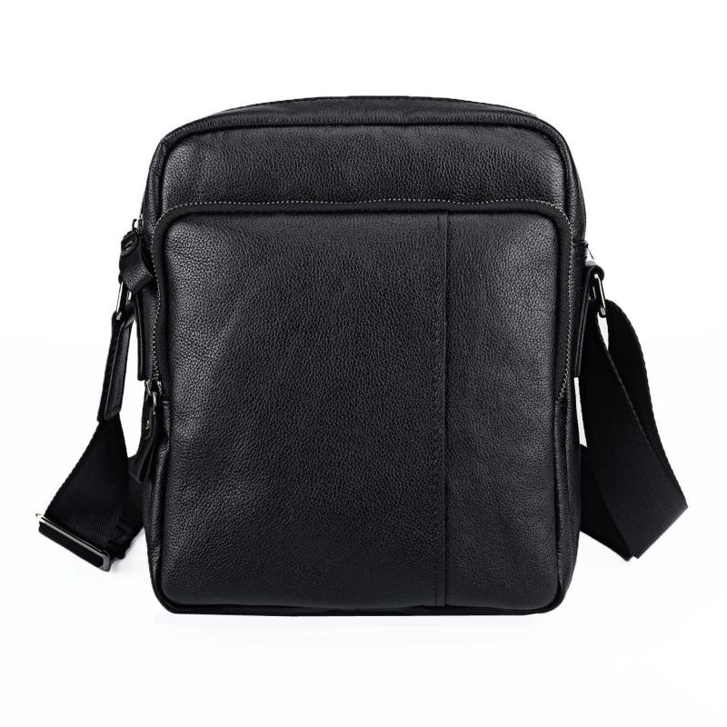 BADASS Black LEATHER MENS Small Ipad SHOULDER BAG SIDE BAG COURIER BAG MESSENGER BAG FOR MEN