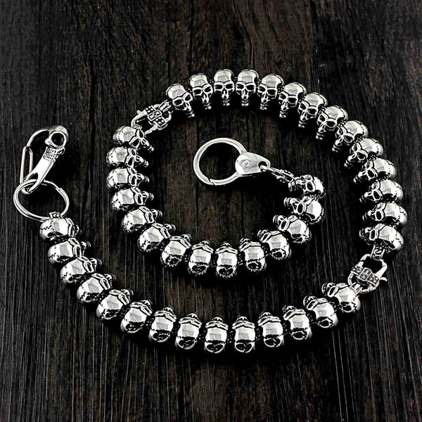 Ghost Head Titanium Steel Pants Chain Metal Wallet Chain Locomotive Punk Waist Chain For Men