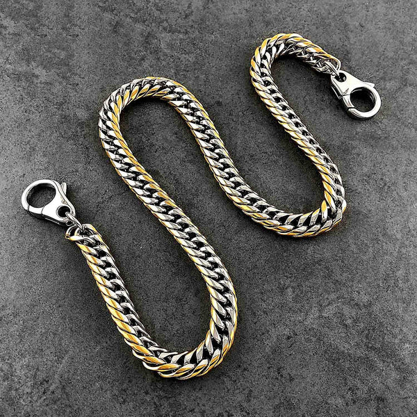 SOLID STAINLESS STEEL BIKER SILVER GOLD WALLET CHAIN 18'' LONG PANTS CHAIN JEAN CHAIN FOR MEN