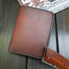 Handmade Leather Short Wallet Mens Cool Short Slim Wallet Wallet For Men