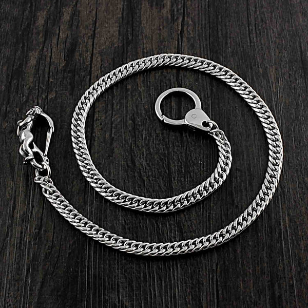 SOLID STAINLESS STEEL BIKER Cool WALLET CHAIN LONG PANTS CHAIN JEAN CHAIN FOR MEN