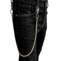 29'' SOLID STAINLESS STEEL BIKER SILVER Gold WALLET CHAIN LONG PANTS CHAIN PUNK Jeans Chain Jean ChainS FOR MEN