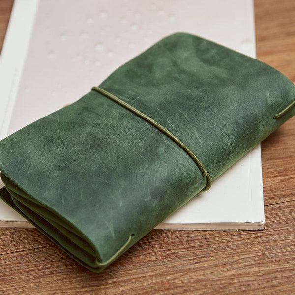 Cool Leather Canvas Mens Bifold Long Wallet Leather Long Wallet for Men