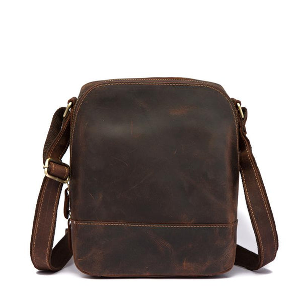 Cool Leather Men's Small Tablet Messenger Bag Small Side Bag Small Shoulder Bag For Men