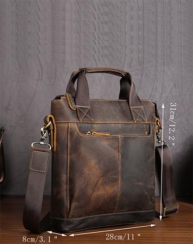Vintage Leather Men Briefcases Work Bag Business Bag Laptop Bag For Men