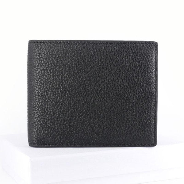 Black Leather Mens Bifold Small Wallet Front Pocket Wallet Slim Small Wallet for Men