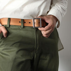 Genuine Leather Vintage Simple Leather Belt Mens Camel Belt Men Black Leather Belt for Men