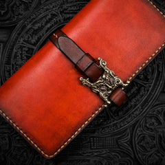 Handmade Leather Mens Cool Leather Long Wallet Long Wallets for Men