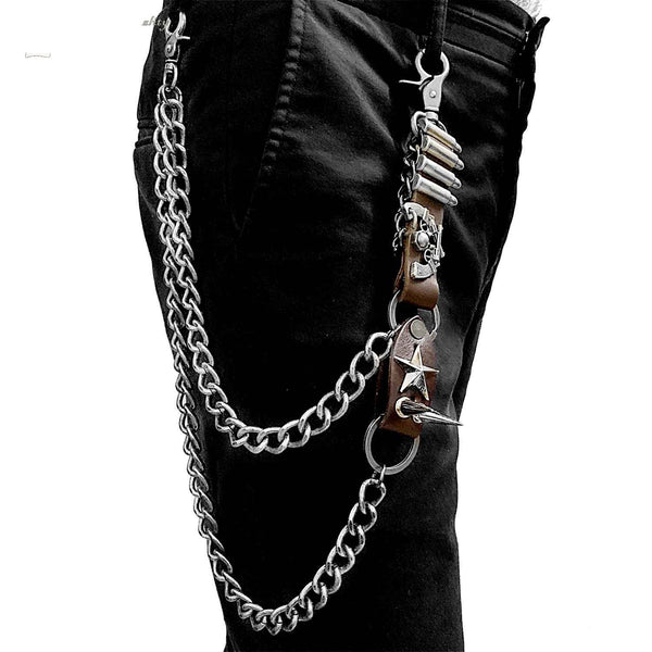 Badass Biker Heavy Metal Double Pants Chain Wallet Chain Motorcycle Punk Chain For Men