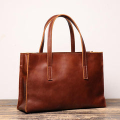 Vintage Mens Womens Leather Large Brown Tote Handbag Shoulder Tote Purse Tote Bag For Men