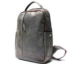 Green Mens Leather Backpack Travel Backpacks Laptop Backpack for men