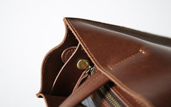 Handmade Leather Mens Tote Bag Cool Messenger Bag Handbag Shoulder Bag for men