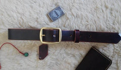 Handmade Vintage Leather Mens Belt Men Leather Belt for Men