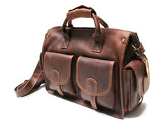 Cool Leather Mens Large Travel Bags Handbag Shoulder Bags Weekender Bag for men