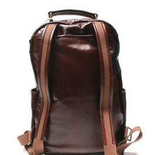 Vintage Leather Mens Backpack Travel Backpack School Backpacks for men