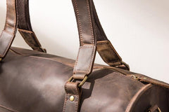 Cool Vintage Leather Mens Weekender Bag Travel Bags Shoulder Bags for men