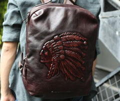 Cool Leather Mens Backpacks Travel Backpacks School Backpacks for men