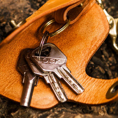 Handmade Leather Tooled Mens Cool Car Key Wallet Car Key Holder Car KeyChains for Men