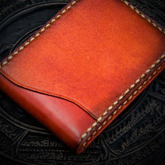Handmade Leather License Wallets Mens billfold Wallet Cool Leather Wallet Small Wallet for Men