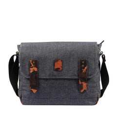 Casual Gray Oxford Cloth Mens Ancient Side Bag Messenger Bags Ancient Red Oxford Cloth Courier Bag for Men