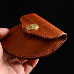 Cool Black Leather Mens Small Coin Wallet Change Wallet Brown Coin Earphones Cases For Men
