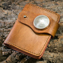 Handmade Leather billfold Mens Chain Biker Wallet Cool Leather Wallet With Chain Wallets for Men