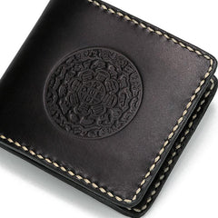 Handmade Leather Tooled Mens billfold Wallet Cool Leather Wallet Slim Wallet for Men