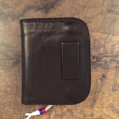 Genuine Leather Mens Cool billfold Long Leather Wallet Men Small Wallets Bifold for Men