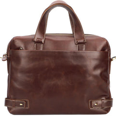 Vintage Maroon Mens Leather Briefcase Work Handbag Brown 14'' Laptop Briefcases For Men