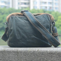 Denim Blue Mens Casual Small Messenger Bag Jean Postman Bag Courier Bag For Men