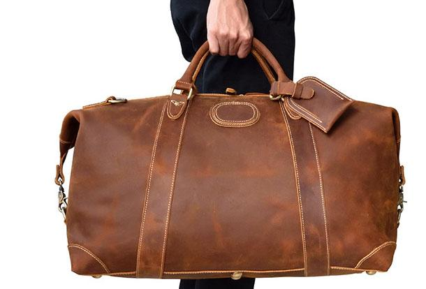 Cool Vintage Leather Mens Duffle Bags Weekender Bag Overnight Bag Travel Bag