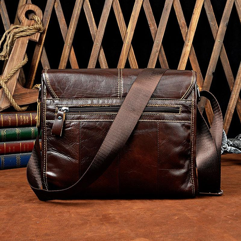 1e0e68dddcab Cool Vintage Leather Mens Small Side Bag Messenger Bag Shoulder Bag for Men