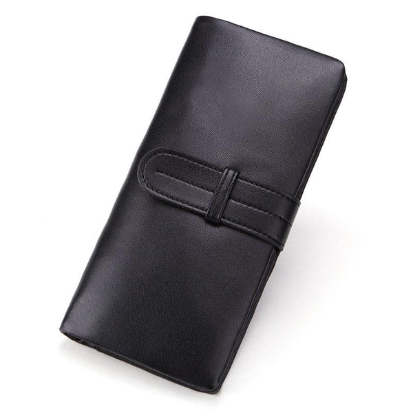Cool Black Mens Leather Long Wallet Bifold Long Wallet for Men