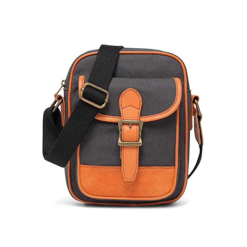 Casual Navy Blue Canvas MENS Vertical SIDE BAG COURIER BAG Vertical MESSENGER BAG FOR MEN